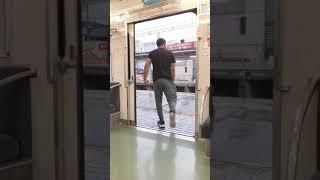 (もうすぐで見納め?)南海6000系 区急 林間田園都市行き ドア開け閉め  河内長野駅