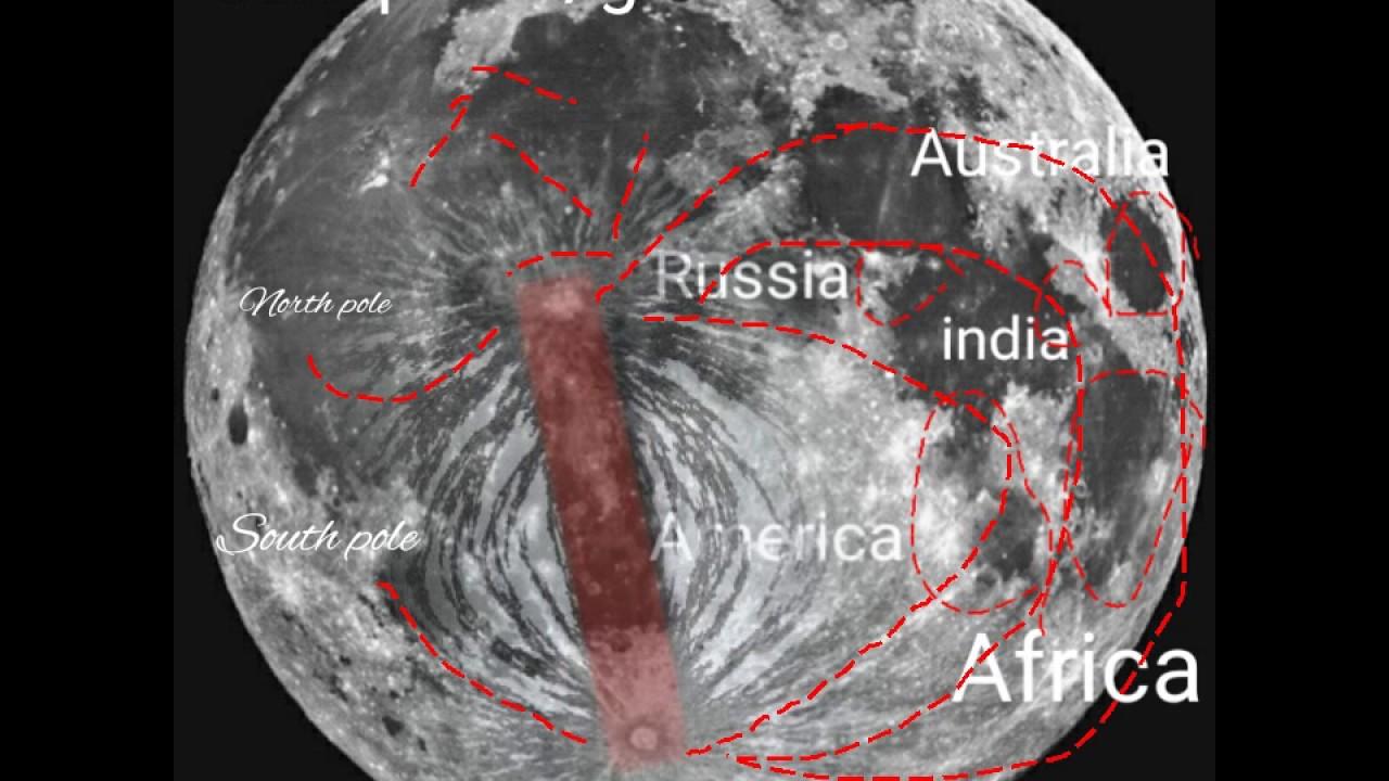 FLAT EARTH MAP ON MOON - YouTube