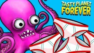 Безумный ОСЬМИНОГ СЪЕЛ все ТРУСЕЛЯ в ОКЕАНЕ Съедобная Планета Tasty Planet Forever от Cool GAMES