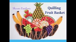 Quilling Fruit basket/ How to make Paper Fruit Basket