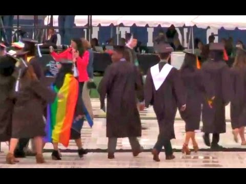 Notre Dame Students  WALK OUT on Mike Pence Commencement speech
