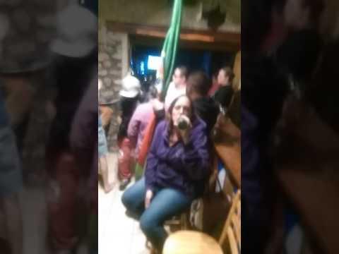 Northern Ireland fans on the karaoke at euro 2016