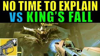 Destiny: No Time to Explain vs King
