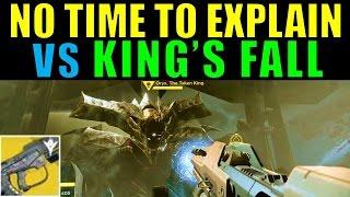 Destiny: No Time to Explain vs King