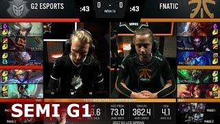 g2 esports vs fnatic   game 1 semi finals s7 eu lcs spring 2017 playoffs   g2 vs fnc g1 sf 1080p