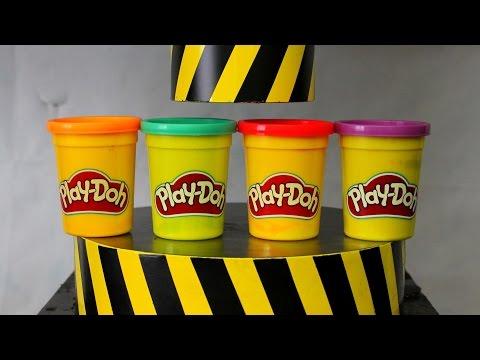EXPERIMENT HYDRAULIC PRESS 100 TON vs Play Doh