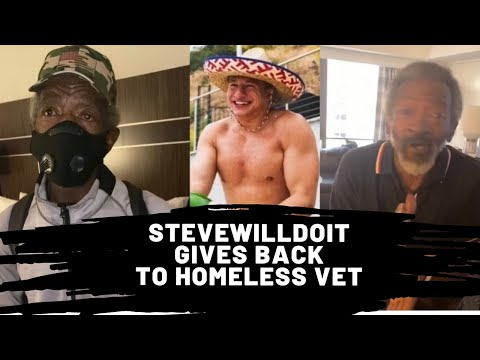 Stevewilldoit Gives Back To Homeless Veteran Gerald Hudson Help Gerald Land A Job In New York Do You Own A Business Stevewilldoit Pro Sports Extra Stevewilldoit world record dab challenge preview. homeless veteran gerald hudson