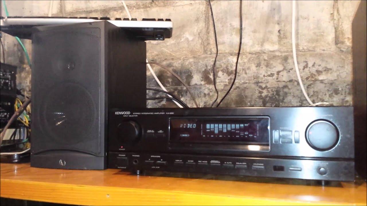 kenwood ka 892 stereo integrated amplifier - youtube