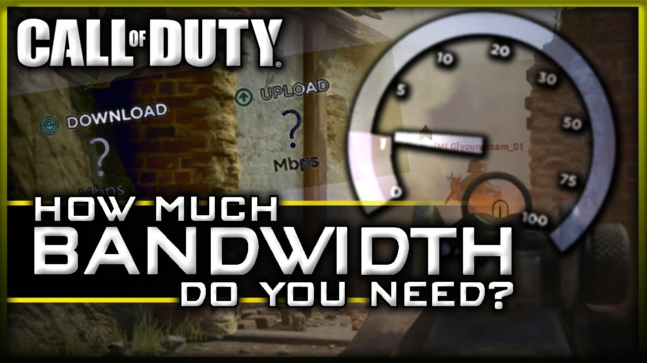 How Much Bandwidth do you Need for Call Of Duty? (CoD WW2 Gameplay)