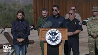 WATCH LIVE: Trump administration provides update on border wall construction