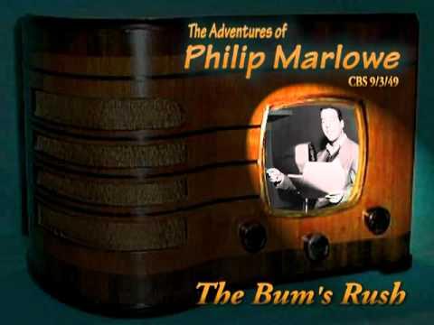 "Philip Marlowe ""The Bum's Rush"" 9/3/49  Oldtime Radio Crime Drama"