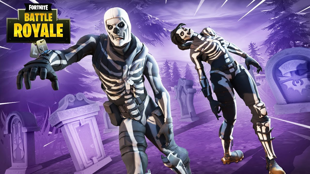 New Purple Glow Skull Trooper Skin Fortnite Battle Royale