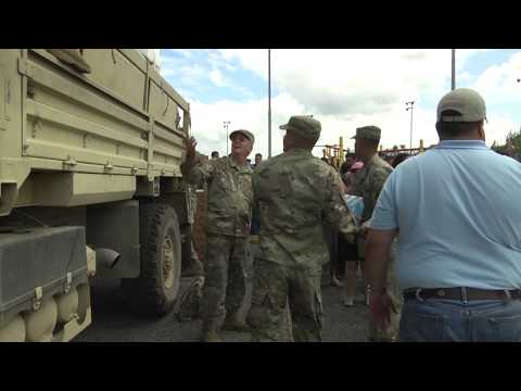 FEMA and DoD Personnel Provide Food and Water to the People of Puerto Rico