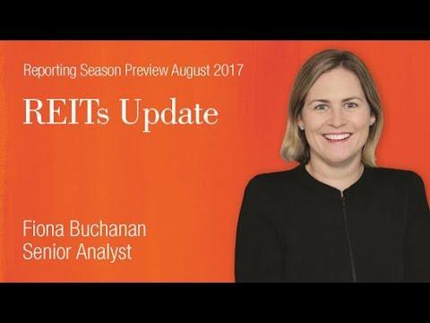 Reporting Season Preview – REITs: Fiona Buchanan, Senior Analyst