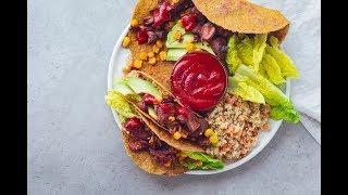 FLAX SEED TACO WRAPS // grain free & 2 ingredients