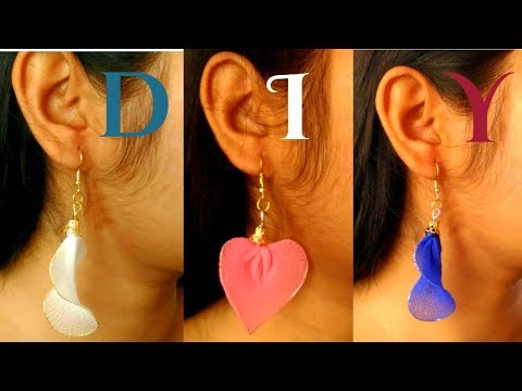 How to make earrings with your desired shape   Easy & Home made  DIY project  