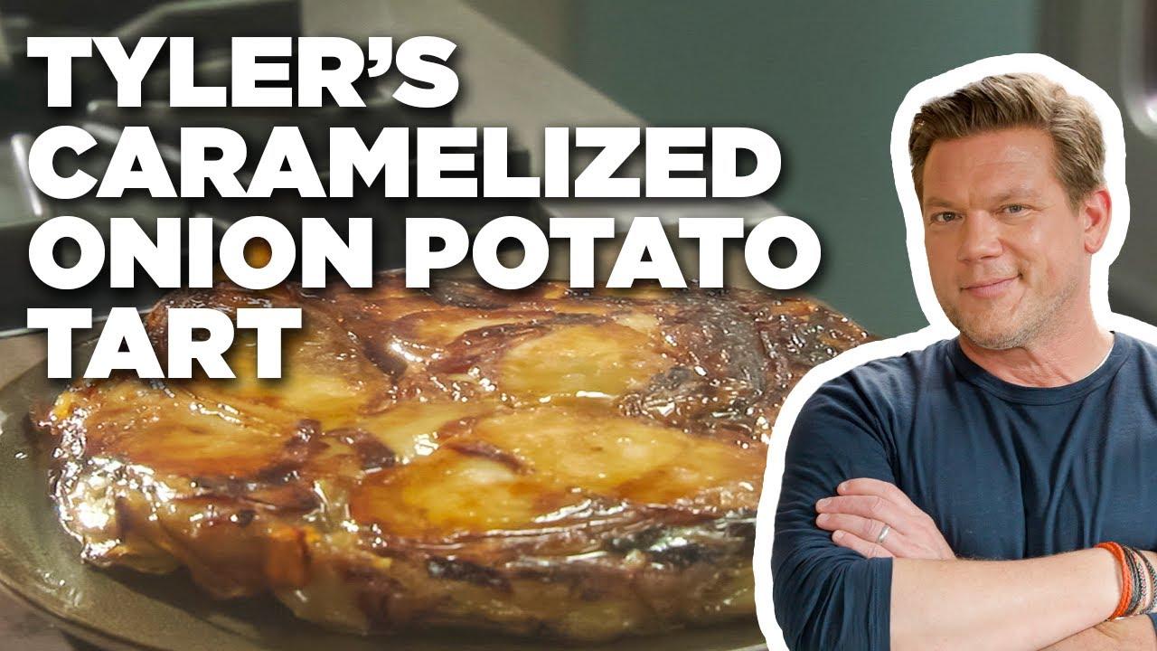 Tyler Florence's Caramelized Onion Potato Tart | Tyler's Ultimate | Food Network