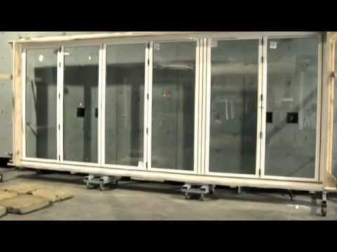 Hurricane Standard Testing Folding Sliding Doors Youtube