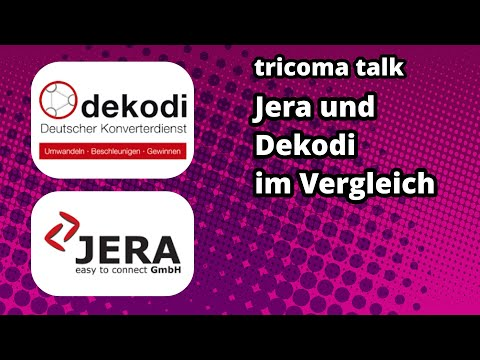 tricoma talk 006 - Jera und Dekodi Buchhaltungsschnittstellen im Vergleich