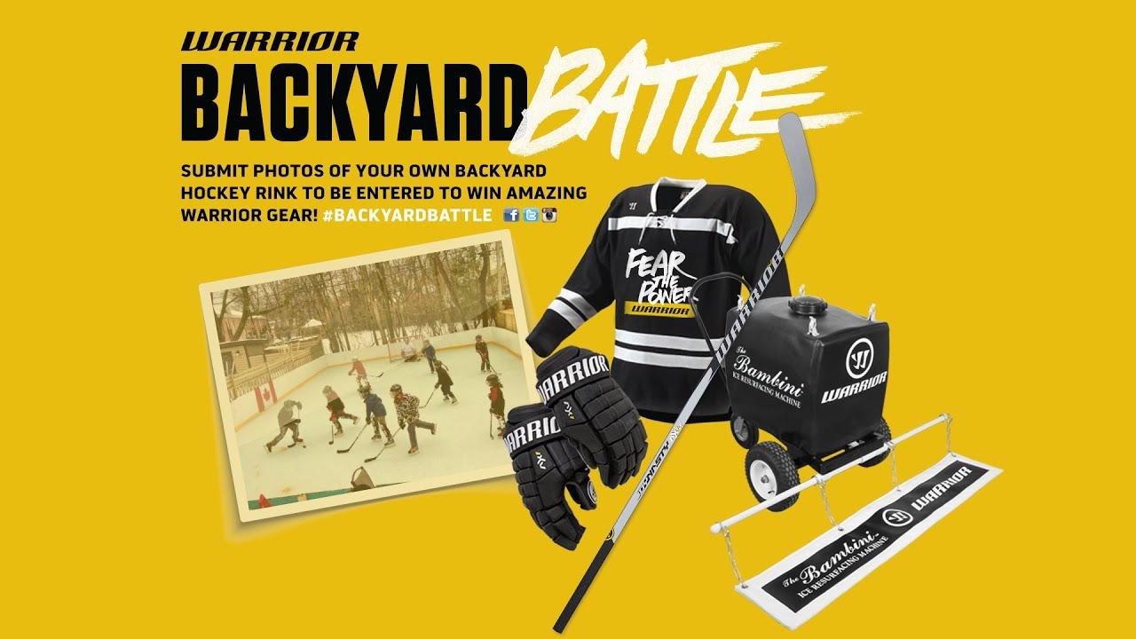 backyard battle contest warrior hockey youtube
