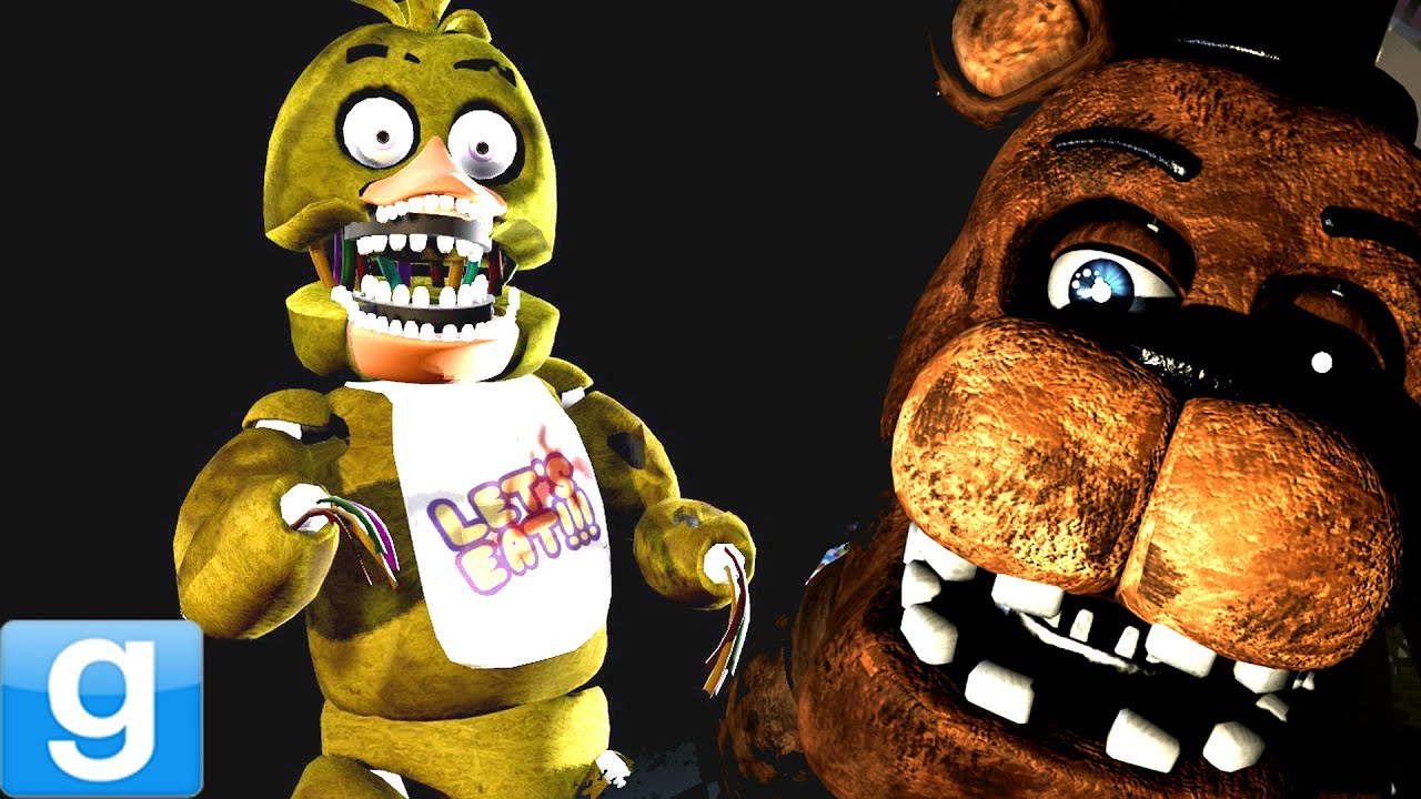 Withered animatronics gmod five nights at freddy s playermodel mod