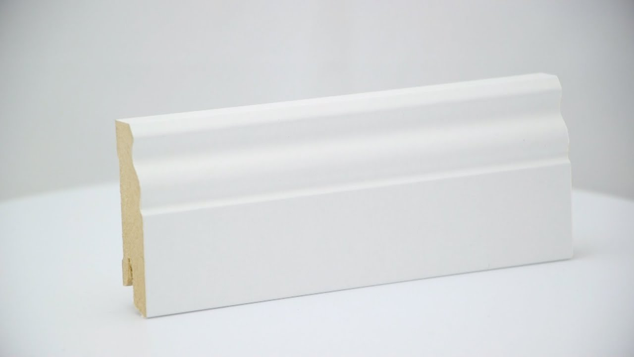 hamburger (berliner) sockelleiste mdf folie weiß (19 x 60 mm) - youtube