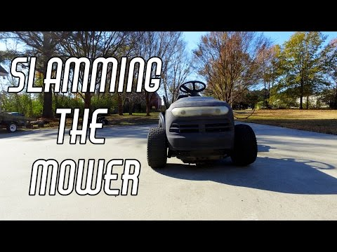 Racing Mower Build Pt  4: Extreme Lowering - YouTube