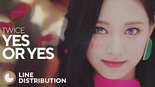 Download lagu TWICE YES or YES Line Distribution