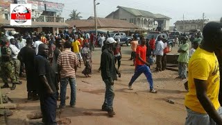OH Seriously Nigerian In Abossey Okai Started Packing And Locking Their Shops
