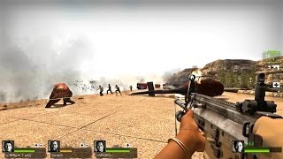 Left 4 Dead 2 - A Dam Mission Custom Campaign Multiplayer Gameplay Playthrough