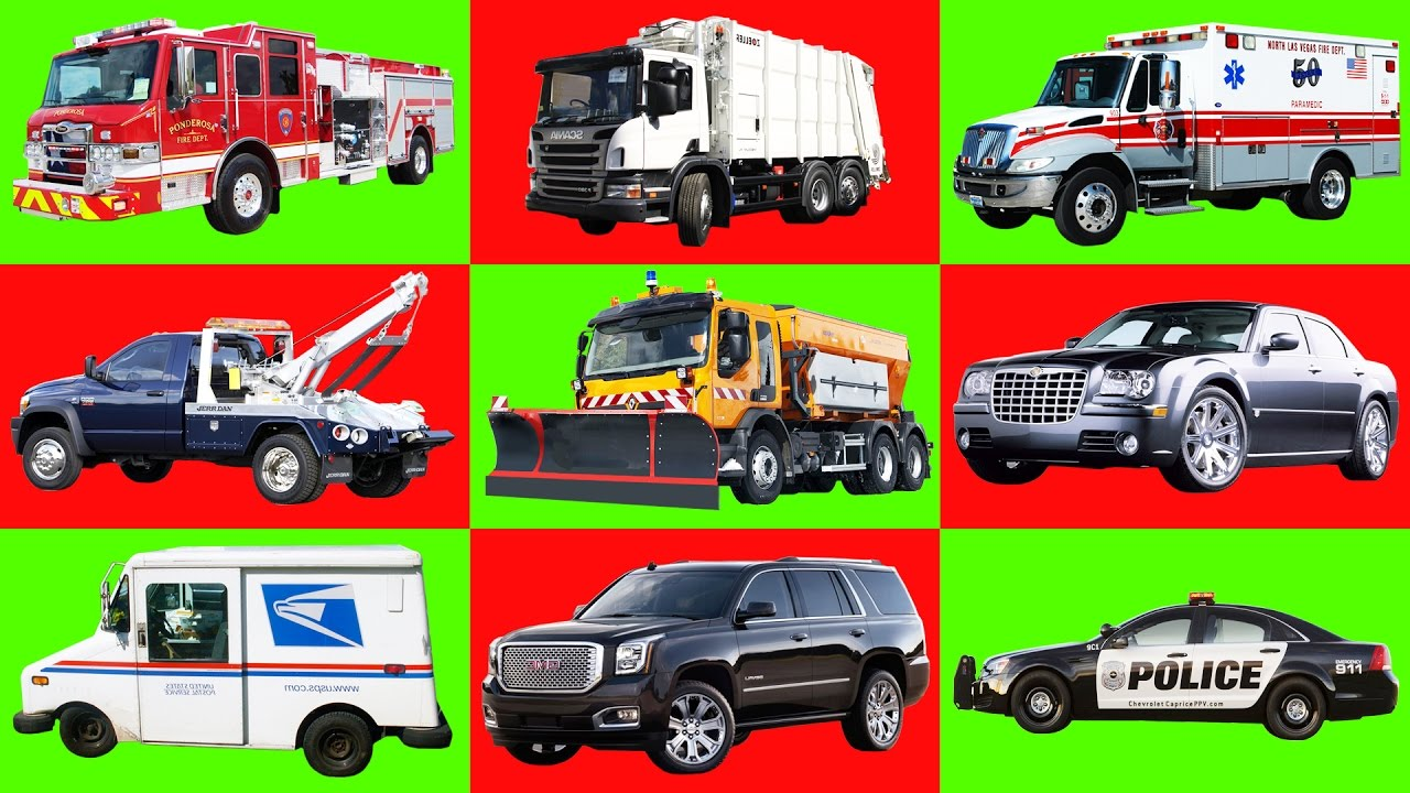 Car For Kids >> Learning video: Transportation for kids. Names and sounds of cars and trucks for children - YouTube
