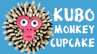 MONKEY SURPRISE INSIDE CUPCAKES - Kubo and the two strings - pinata cupcake with m&ms kids baking