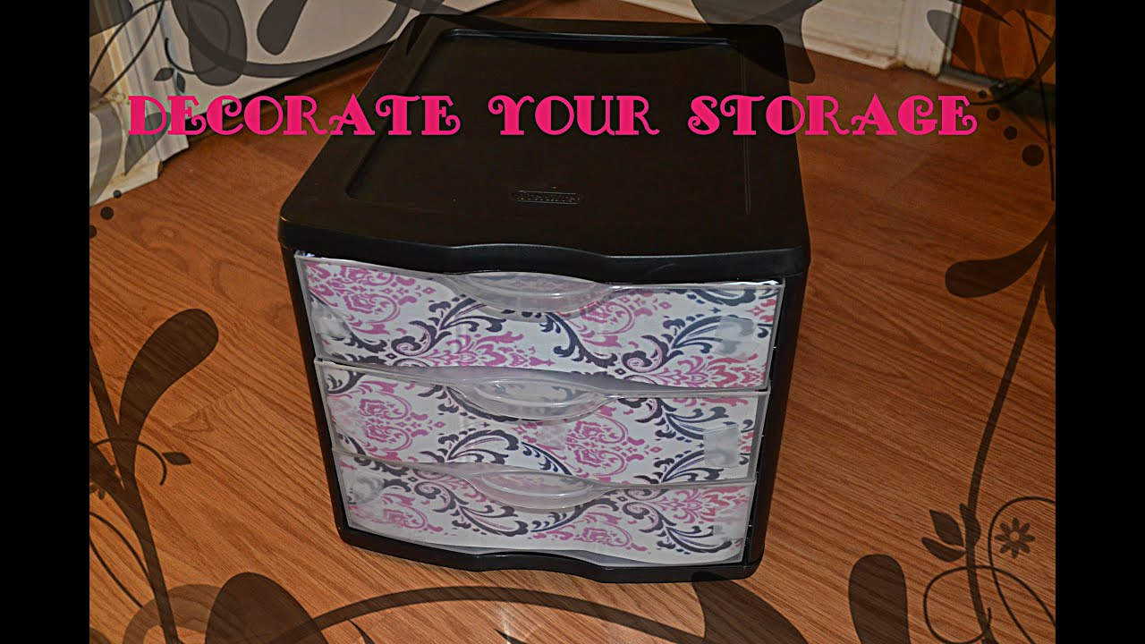DIY: DECORATE YOUR STORAGE CONTAINER   YouTube