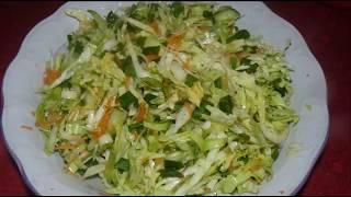 Легкий салат из молодой капусты. Витаминный #салат на скорую руку.