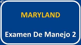 Examen De Manejo De Maryland 2
