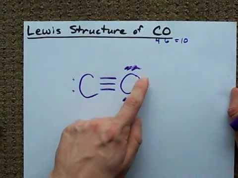 Lewis Structure Of Co Carbon Monoxide