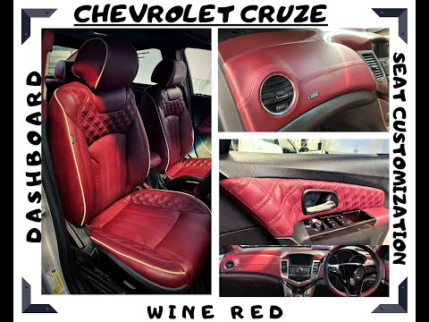 CHEVROLET CRUZE FULL WINE RED INTERIOR MODIFICATION WITH PIANO FINISH AND MUCH MORE.
