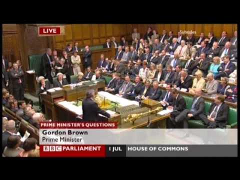 Gordon Brown's best PMQ answer ever - 0% growth