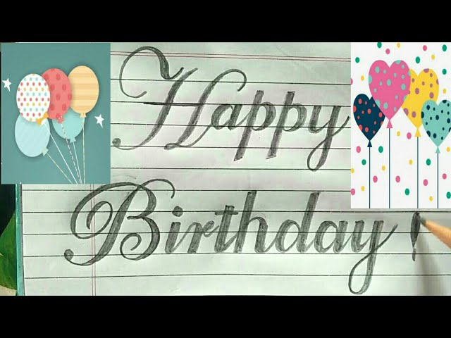 Cursive How To Write Happy Birth Day In Fancy Letters Satisfying Cursive Rua Sign Writing Youtube