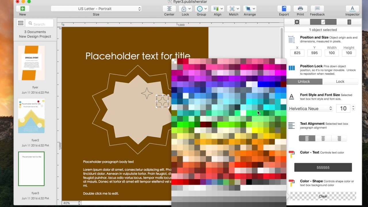 design flyer on mac how to create a portrait mode flyer using a