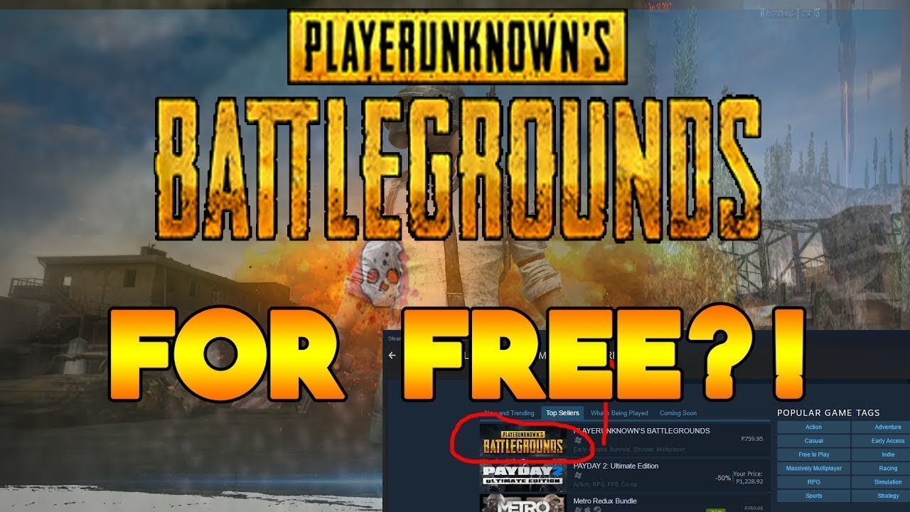 How To Get PUBG/CSGO For FREE (Free Steam Games 2017/2018)