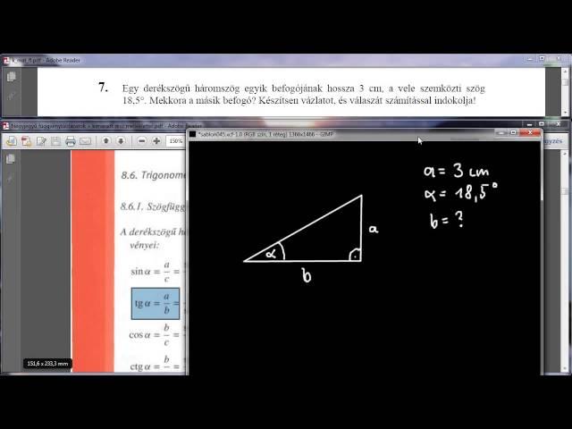 7. Feladat - Derékszögű háromszög