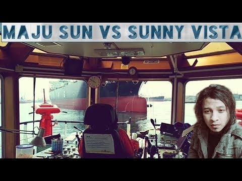 ASD TUG  shifting LPG Sunny Vista @ Keppel Hitachi shipyard