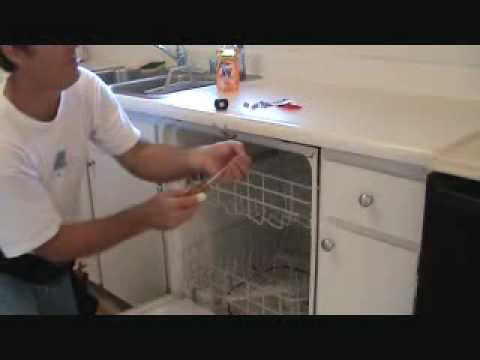 How to secure a loose dishwasher youtube for Granite overhang without support