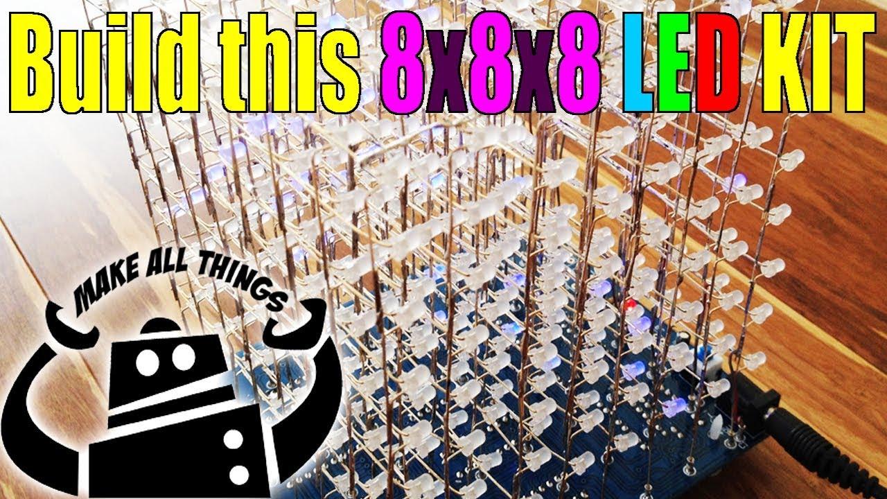 8x8x8 3d led cube kit tutorial how