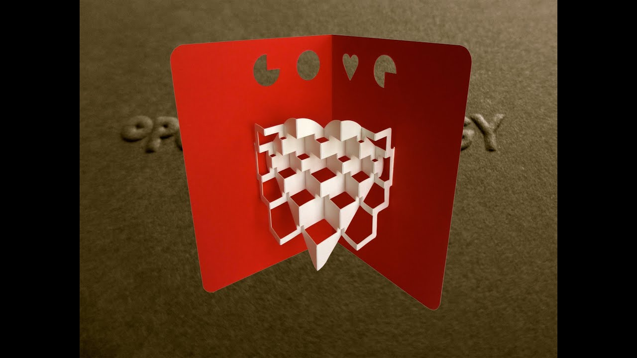 Pop Up Valentines Kinetic Heart Card 2 Tutorial Origamic – How to Make Pop Up Valentine Cards