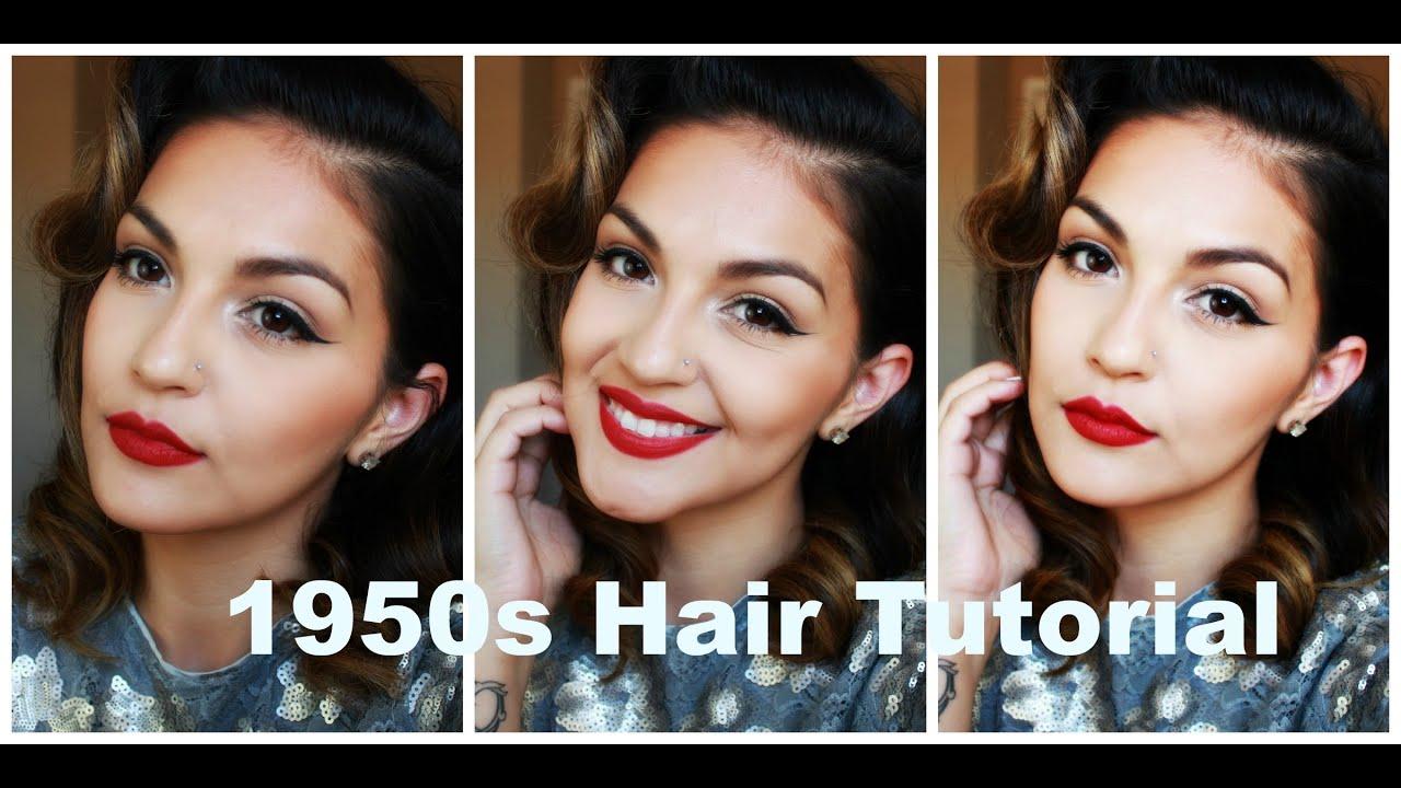 1950s hair tutorial | brenda manalac - youtube