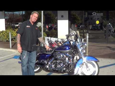 2007 FLHRC,Road King Classic, cobalt blue and pewter