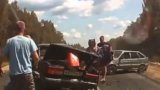 Multi car accident horrific footage