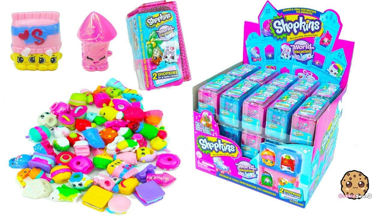Shopkins Americas Season  Surprise Blind Bags Full Box Haul Cookie Swirl C